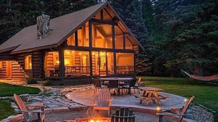 shed home in the woods